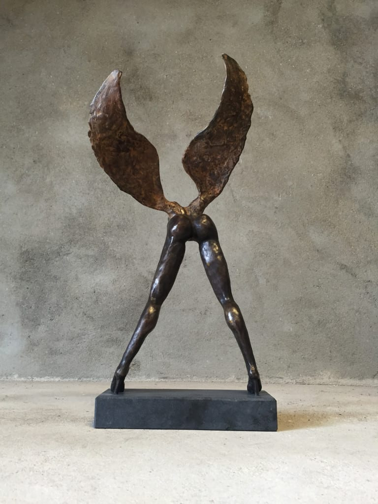 Bronzen-beeld-Wannaflywithme