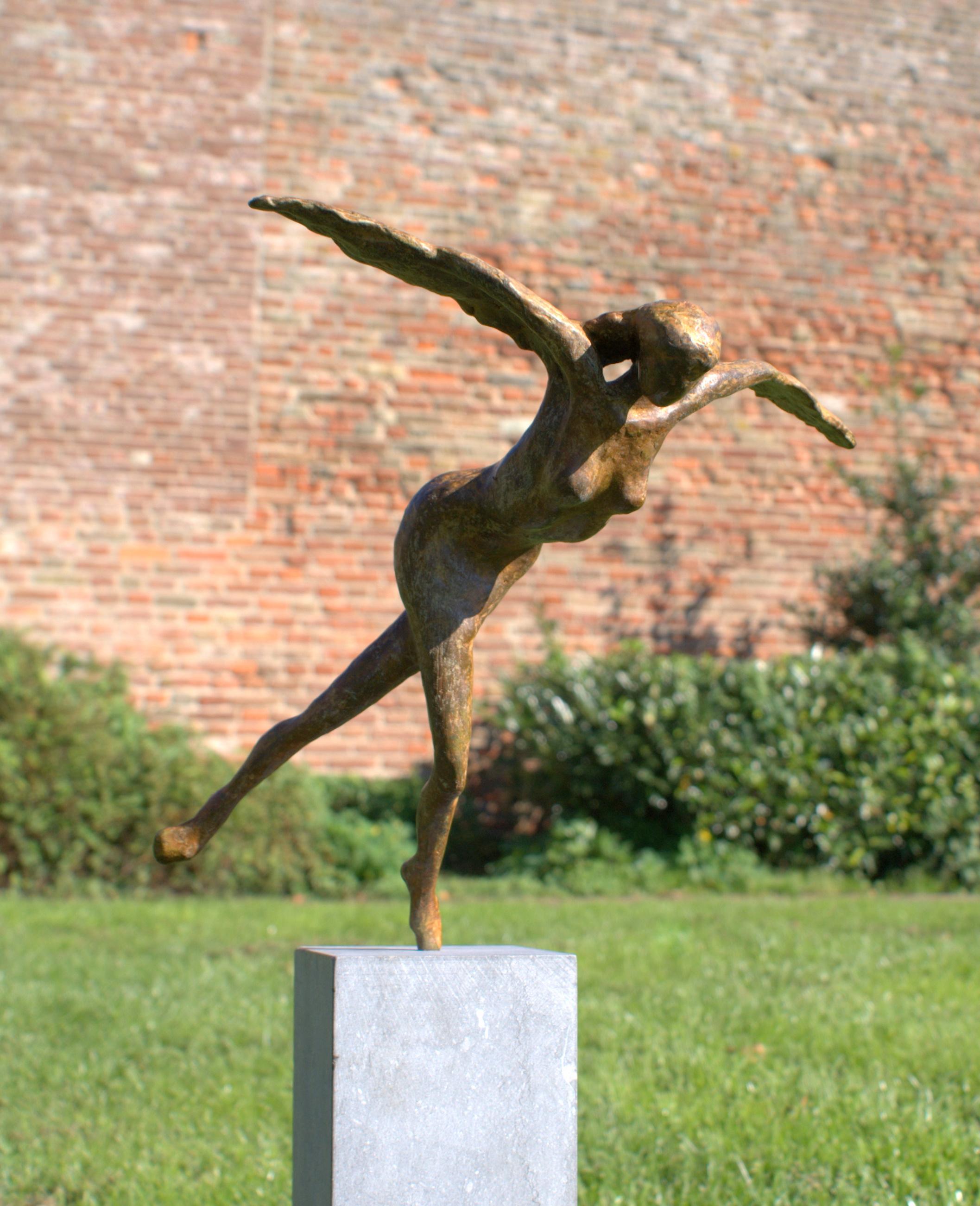Bronzen Engelen Beelden.Beeld Brons Engel Angelo Monique Spapens Bronzen Sculpturen 3d